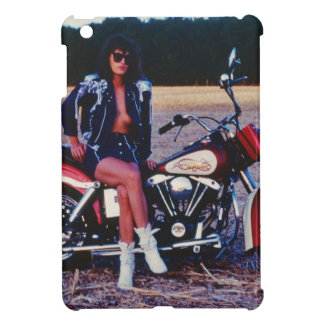 Classic Pinup Girl On A Motorcycle iPad Mini Cases