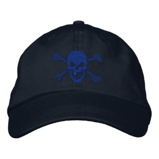 Classic Pirate Crossbones Skull Embroidery Embroidered Baseball Cap
