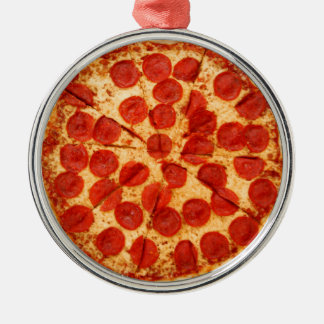 classic pizza lover metal ornament