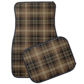 Classic plaid pattern tartan car mat