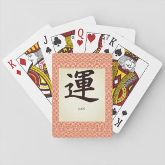 Classic Playing Cards WITH KANJI SYMBOL FOR LUCK
