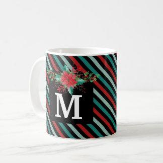 Classic Poinsettia Christmas Photo Holiday Mug