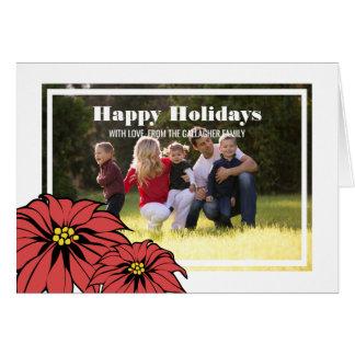 Classic Poinsettia Holiday Photo Card