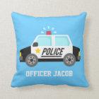 Classic  Police Car with Siren For Boys Room Cushion