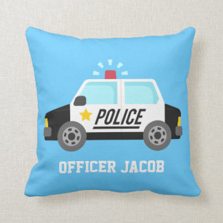 Classic  Police Car with Siren For Boys Room Cushions