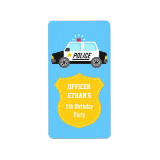 Classic Police Car with Siren For Kids Label