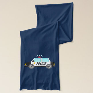Classic Police Car with Siren For Kids Scarf