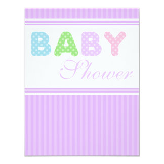 Classic Polka Dot Letters Baby Shower Invitations