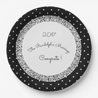Wedding Name Plate Template | classic polka dot vintage wedding template name 9 inch paper plate r8bca8aab07e44071be133a1f23b8de5b zkbhg 324