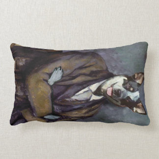 Classic Pooch Painting throw Lumbar Pillow