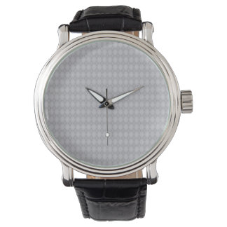 Classic Preppy Silver Argyle Watches
