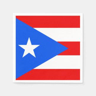 Classic Puerto Rican Flag Paper Napkin