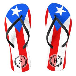 Classic Puerto Rican Flag Thongs