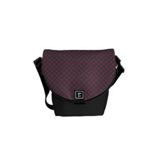 Classic Quatrefoil Brick Red and Blue Courier Bag