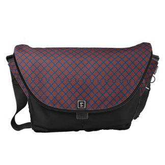 Classic Quatrefoil Brick Red and Blue Messenger Bags