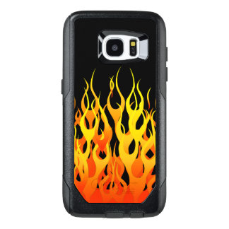 Classic Racing Flames Decor on a OtterBox Samsung Galaxy S7 Edge Case