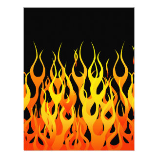 Classic Racing Flames Hot Rod  Style 21.5 Cm X 28 Cm Flyer