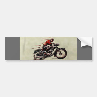 CLASSIC RACING MOTORCYCLE. BUMPER STICKER