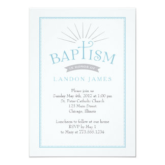 Classic Radiance Baptism Invitation
