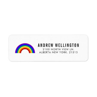 Classic Rainbow | Return Address Return Address Label