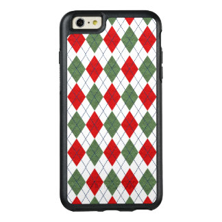 Classic Red And Green Argyle Pattern OtterBox iPhone 6/6s Plus Case