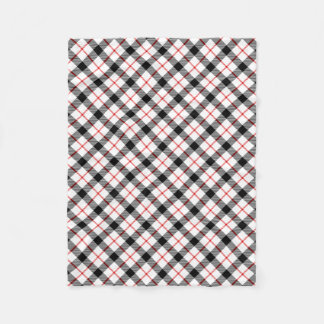 Classic Red Black and White Plaid Fleece Blanket