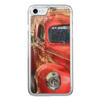 Classic Red Car Carved iPhone 8/7 Case