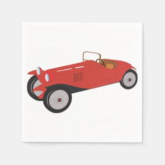 Classic Red Car Paper Napkins