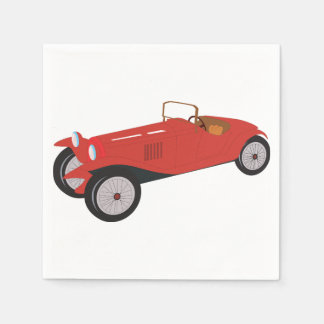 Classic Red Car Paper Napkins Disposable Napkin