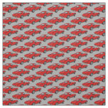 Classic Red Corvette Design Fabric