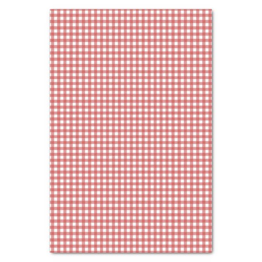 Classic Red Gingham Tissue Paper