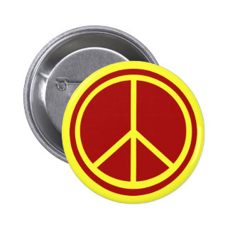 Classic Red Peace Sign 6 Cm Round Badge