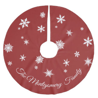 Classic Red Personalized Tree Skirt