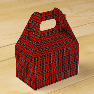 Classic Red Plaid Pattern Favour Box