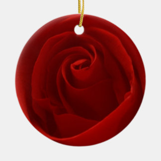 Classic Red Rose Holiday Ornament