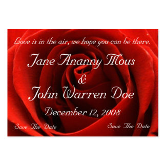 Classic Red Rose Save the Date Card Business Card