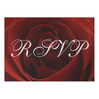 Classic Red Rose Wedding RSVP Response Card Business Card Templates