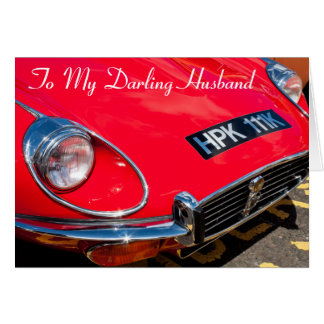 Classic Red Sports car  Birthday card