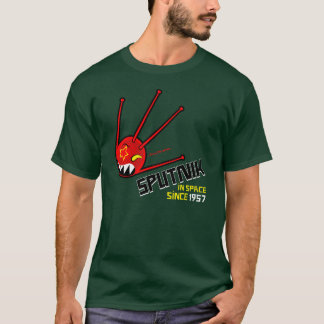 classic red sputnik dark t-shirt