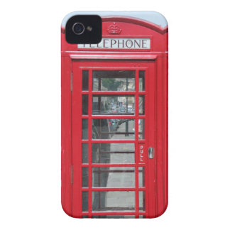 Classic red telephone box photo iPhone 4 covers
