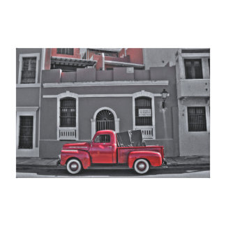 Classic Red Truck Canvas Print