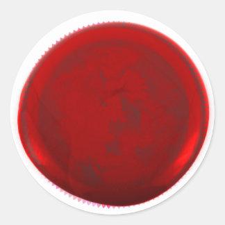 Classic Red Wax Envelope Seal Round Sticker