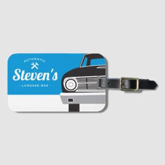 Classic Retro Car   Customized Name Own Brand Luggage Tag
