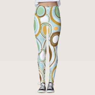 Classic Retro Circles Leggings