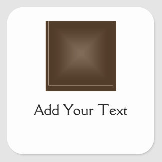 Classic Rich Chocolate Brown Square Sticker