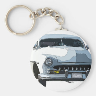Classic Ride Basic Round Button Key Ring