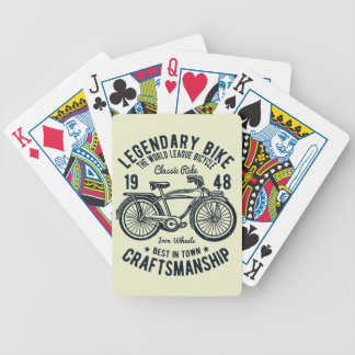 Classic Ride Bicycle Legendary Bike Craftsmanship Bicycle Playing Cards