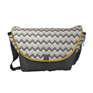 Classic Ripple Chevron Messenger Bag - Grey