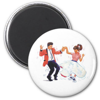 Classic Rock and Roll  Jive Dancing 6 Cm Round Magnet