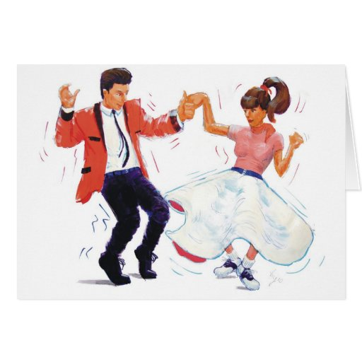 Classic Rock and Roll  Jive Dancing Greeting Cards